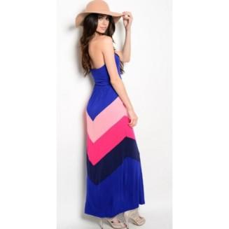 strapless-chevron-pattern-maxi-dress-