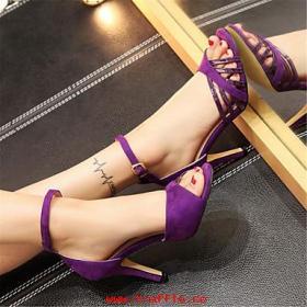 zapatos de mujer-tacón stiletto-tacones-sandalias-oficina y trabajo vestido fiesta y noche-terciopelo cuero patentado-negro